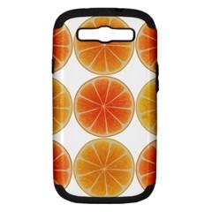Orange Discs Orange Slices Fruit Samsung Galaxy S Iii Hardshell Case (pc+silicone)
