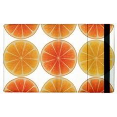 Orange Discs Orange Slices Fruit Apple Ipad 2 Flip Case