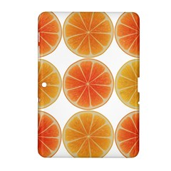 Orange Discs Orange Slices Fruit Samsung Galaxy Tab 2 (10 1 ) P5100 Hardshell Case