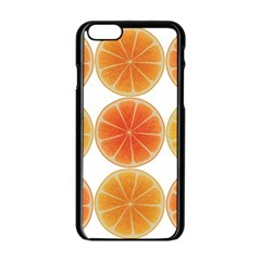 Orange Discs Orange Slices Fruit Apple Iphone 6/6s Black Enamel Case