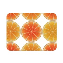 Orange Discs Orange Slices Fruit Double Sided Flano Blanket (mini)