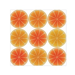 Orange Discs Orange Slices Fruit Small Satin Scarf (square)