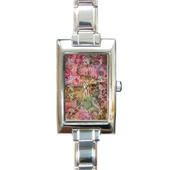 Texture Background Spring Colorful Rectangle Italian Charm Watch