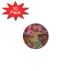 Texture Background Spring Colorful 1  Mini Buttons (10 pack)