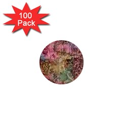 Texture Background Spring Colorful 1  Mini Buttons (100 Pack)