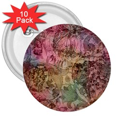 Texture Background Spring Colorful 3  Buttons (10 Pack)
