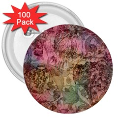 Texture Background Spring Colorful 3  Buttons (100 Pack)