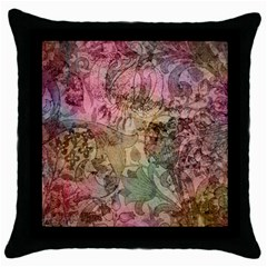 Texture Background Spring Colorful Throw Pillow Case (black)