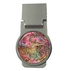 Texture Background Spring Colorful Money Clips (round)