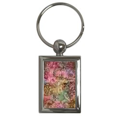 Texture Background Spring Colorful Key Chains (Rectangle)