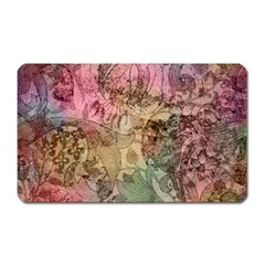 Texture Background Spring Colorful Magnet (Rectangular)