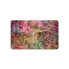 Texture Background Spring Colorful Magnet (name Card)