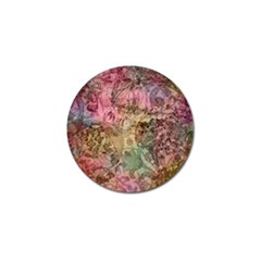 Texture Background Spring Colorful Golf Ball Marker (4 Pack)