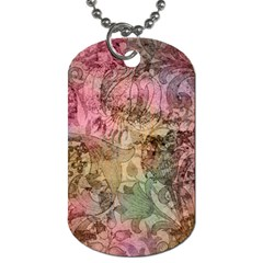 Texture Background Spring Colorful Dog Tag (two Sides)