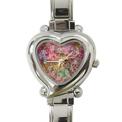 Texture Background Spring Colorful Heart Italian Charm Watch