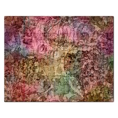Texture Background Spring Colorful Rectangular Jigsaw Puzzl