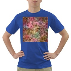 Texture Background Spring Colorful Dark T Shirt