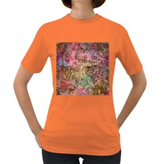 Texture Background Spring Colorful Women s Dark T-Shirt