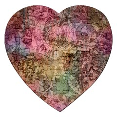 Texture Background Spring Colorful Jigsaw Puzzle (heart)