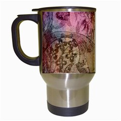 Texture Background Spring Colorful Travel Mugs (white)