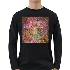 Texture Background Spring Colorful Long Sleeve Dark T Shirts