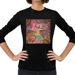 Texture Background Spring Colorful Women s Long Sleeve Dark T Shirts
