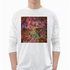 Texture Background Spring Colorful White Long Sleeve T Shirts