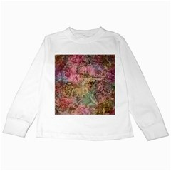 Texture Background Spring Colorful Kids Long Sleeve T Shirts