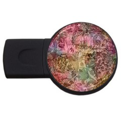 Texture Background Spring Colorful Usb Flash Drive Round (4 Gb)