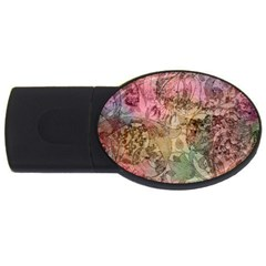Texture Background Spring Colorful Usb Flash Drive Oval (4 Gb)