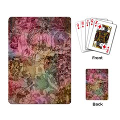 Texture Background Spring Colorful Playing Card