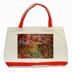 Texture Background Spring Colorful Classic Tote Bag (red)