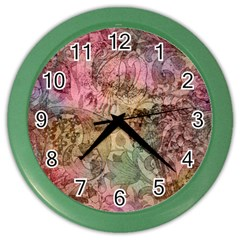 Texture Background Spring Colorful Color Wall Clocks