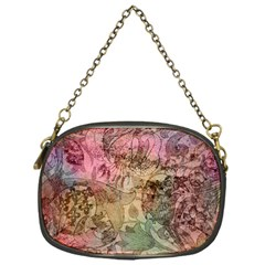 Texture Background Spring Colorful Chain Purses (one Side)