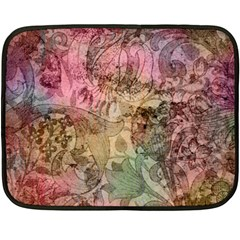 Texture Background Spring Colorful Double Sided Fleece Blanket (mini)