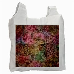 Texture Background Spring Colorful Recycle Bag (one Side)