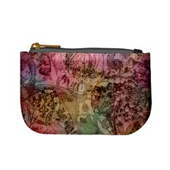 Texture Background Spring Colorful Mini Coin Purses