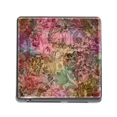 Texture Background Spring Colorful Memory Card Reader (square)