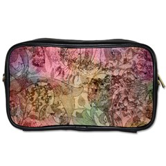 Texture Background Spring Colorful Toiletries Bags 2 Side