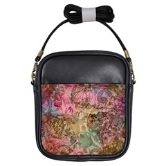 Texture Background Spring Colorful Girls Sling Bags