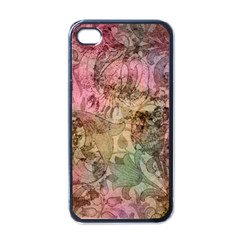 Texture Background Spring Colorful Apple Iphone 4 Case (black)