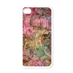 Texture Background Spring Colorful Apple Iphone 4 Case (white)