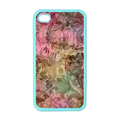 Texture Background Spring Colorful Apple Iphone 4 Case (color)