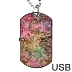 Texture Background Spring Colorful Dog Tag Usb Flash (two Sides)