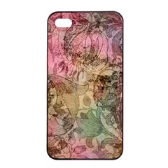 Texture Background Spring Colorful Apple Iphone 4/4s Seamless Case (black)
