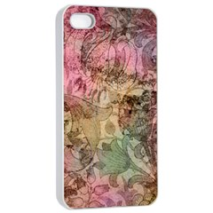 Texture Background Spring Colorful Apple Iphone 4/4s Seamless Case (white)