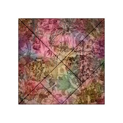Texture Background Spring Colorful Acrylic Tangram Puzzle (4  X 4 )