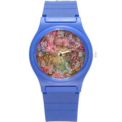 Texture Background Spring Colorful Round Plastic Sport Watch (s)