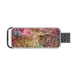 Texture Background Spring Colorful Portable Usb Flash (one Side)