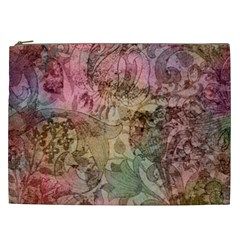 Texture Background Spring Colorful Cosmetic Bag (xxl)